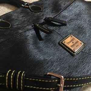 Dooney & Bourke Black Leather Bag Gold Hardware